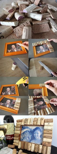 portaretrato reciclar corcho DIY muy ingenioso 2