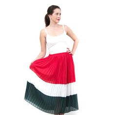 חצאית קולור בלוק