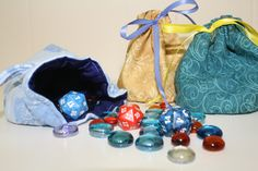 Lined Dice Bag Tutorial for the gamers in my life.