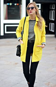 Yellow coat #kissmylook