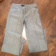 Linen slacks- the limited -4 Beautiful gray linen pants by the limited - folded hen- they are beautiful! Great lightweight dressy pants for this warmer season! The Limited Pants Trousers