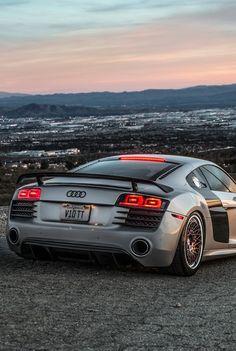 Audi R8. What a view!