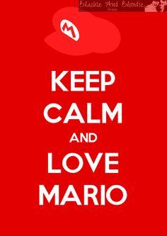 Mario Print Keep Calm and Love Mario Keep Calm Print Super Mario Poster. £5.25, via Etsy.