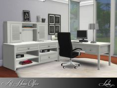 Sims 4 CC's - The Best: At Home Office by Lulu265