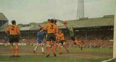 Chelsea 2 Hull City 2 in March 1966 at Stamford Bridge. Action from the FA Cup 6th Round.