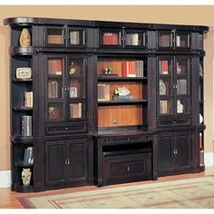 Parker House Oxford Library Wall Bookcase with Writing Desk traditional bookcases Desk Wall Unit, Bookcase Wall, Library Wall, Library Design, Home Office Furniture, Dining Room Furniture, Wall Units With Fireplace, Oxford Library, Traditional Bookcases