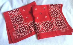 2 Vintage All Cotton Fast Color Floral Red Bandanas RN13960 Made in USA | Clothing, Shoes & Accessories, Vintage, Vintage Accessories | eBay!