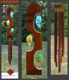 Unavailable Listing on Etsy Stained Glass Projects, Stained Glass Art, Mosaic Glass, Glass Wind Chimes, Diy Wind Chimes, Glass Garden Art, Outdoor Light Fixtures, Outdoor Lighting, Driftwood Crafts