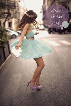 wear a pretty dress, do a little dance