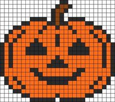 Halloween Pumpkin perler bead pattern: