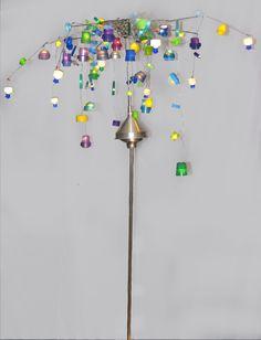 'Gemalen Poppenstront' 2 2017 made by Heleen van Zantvoort Junk Art, Reuse, Lamps, Lightbulbs, Light Fixtures, Lights, Rope Lighting, Scrap Metal Art, Lanterns