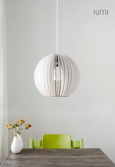 aion white IUMI DESIGN wooden hanging lamp by IUMIDESIGN on Etsy, €129.00