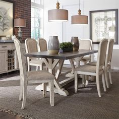 Willowrun Dining 7 Piece Set Liberty Furniture, Trestle Table, Dining Sets, Dining  Furniture