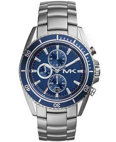 Michael Kors Men's Chronograph Lansing Stainless Steel Bracelet Watch 45mm MK8354