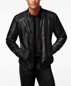 Guess Men's Victor Casual Quilted Jacket
