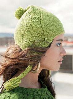 Knitting Pattern for Forester Hat - Twisted stitches emphasize the earflap shaping as they wend their way up the sides of a hat to give the illusion of cables. Designed by Ashley Rao Baby Hat Patterns, Knitting Patterns, Knit Crochet, Crochet Hats, Fall Knitting, Circular Knitting Needles, Models, Knitting Projects, Knitted Hats