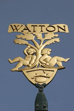 Town Sign of Watton in Norfolk, England