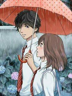 Ao Haru Ride / Blue Spring Ride - Mabuchi/Tanaka Kou and Yoshioka Futaba Anime Love Couple, Manga Couple, Cute Anime Couples, I Love Anime, Futaba Y Kou, Futaba Yoshioka, Anime In, Anime Kawaii, Ao Haru Ride Anime