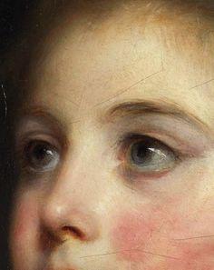 (detail) Jean-Baptiste Greuze, Portrait of a Girl (Detail), 18th Century