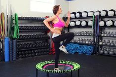 Mini Trampoline Workout, Rebounder Trampoline, Best Trampoline, Backyard Trampoline, Rebounder Workout, Trampolines, Pilates, Benefits Of Cardio, Cardio Training