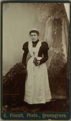 Young housemaid, c. 1890s.
