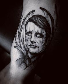 #tattoo #tatuagem #ink #inked #bodymodification #alineymarques #blackandwhite #hannibal #madsmikkelsen #serialkiller