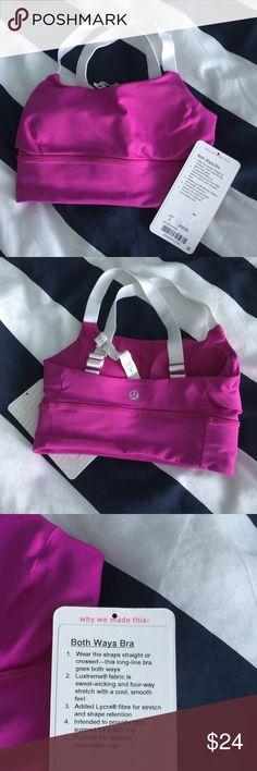 Lululemon both ways bra. Size 2. EUC cute purple color. lululemon athletica Accessories