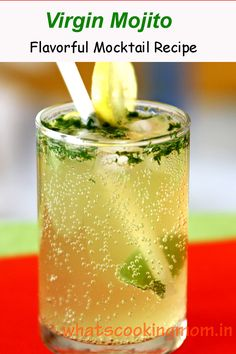 Virgin Mojito is a summer drink made with lemon, mint, and soda/sprite. A perfect refreshing nonalcoholic drink to serve your guests. #mocktail #nonalcoholicdrink #crowdpleasers #whatscookingmom #virginmojito Refreshing Drinks, Summer Drinks, Fun Drinks, Lemon Ice Cubes, Virgin Mojito, Veg Soup, Watermelon Mint, Tea Smoothies, Recipe For Mom