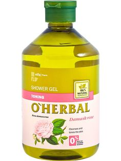 Moisturising Shower Gel With Aloe Vera Extract Softens Skin O'Herbal Damask Rose, Shower Gel, Aloe Vera, Body Care, Herbalism, Moisturizer, Bottle, Ebay, Fashion