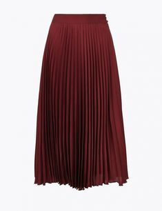 Shop this Pleated Midi Skirt at Marks & Spencer. Browse more styles at Marks & Spencer US Line Shopping, School Uniform Girls, Best Jeans, Pleated Midi Skirt, Summer Essentials, Summer Trends, New Fashion, Studios, Summer Dresses