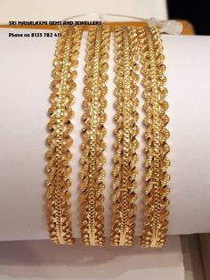 Gold Jewelry Shop Near Me Refferal: 1758321823 Gold Ring Designs, Gold Bangles Design, Gold Earrings Designs, Gold Jewellery Design, Handmade Jewellery, Silver Jewellery, Plain Gold Bangles, Silver Bangle Bracelets, Bangle Set
