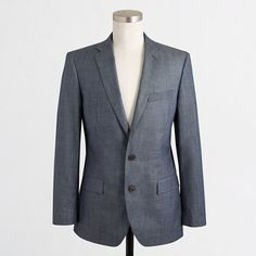 J.Crew Factory - Factory Thompson suit jacket with double vent in chambray
