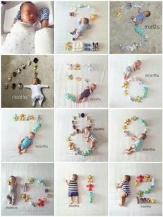 Baby monthly milestone pictures are great way to see how your baby grows up. It's great to look back on baby pictures and see how little they once were and share with family and friends. We found baby monthly milestone pictures to inspire you. Baby Monthly Milestones, Monthly Baby Photos, Newborn Baby Photos, Newborn Pictures, Baby Newborn, Baby Boy Pictures, Milestones For Babies, Baby Growth Pictures, Infant Pictures
