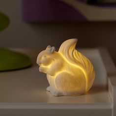 193828_NIghtlight_Woodland_Squirrel_on - nightlight or not, I'd put this cute ceramic battery operated light on a bookshelf.  Adorbs!