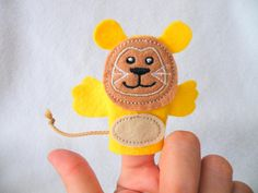 Fingerpuppe Löwe