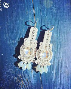 oksanka.jew Soutache Earrings, Crochet Earrings, Shibori, Ribbon, Minimal, Chinese, Buttons, Jewelry, Ideas