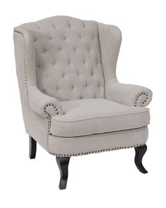 Classic Wing chair in Camel Linen 34x35x43. MSRP $1250. Contractor Price $799