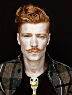 LOVE THE MUSTACHE!!!   Francois Verkerk  max via Joseph Magin onto for-redheads - men