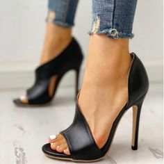 Women Fashion Sexy High Heels Stiletto Peep Toe Sandals Pumps Shoes Look Stylish With These Sexy High Heels Stiletto Shoes Sexy High Heels, High Heels Stilettos, Stiletto Heels, Strappy Heels, Work Heels, Black Heels, Peep Toe Heels, Womens High Heels, Shoes For Work
