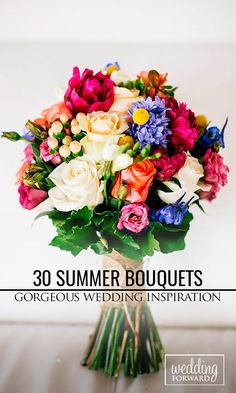 Summer Wedding Bouquets ❤ Summer brides are lucky to have the most beautiful flowers in season for their wedding bouquet. The Effective Pictures We Offer You About wedding bouquets burgundy A quality Summer Wedding Bouquets, Bride Bouquets, Flower Bouquet Wedding, Wedding Summer, Wedding Dresses, Boquette Wedding, Wedding Ideas, Most Beautiful Flowers, Beautiful Bouquets