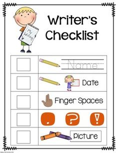 Writing Folder Resources by Kelly McFarland from Engaging Littles Writers Workshop Folders, Student Writing Folders, Writer Workshop, Writing Goals, Sentence Writing, Writing A Book, Writing Sentences, Kindergarten Writing Activities, Writing Resources