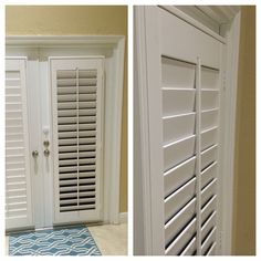 White PolyWood Plantation Shutters on French Doors