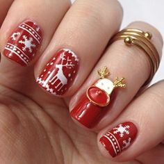 Winter Nageldesign / Weihnachtsnägel: Sweater Nails (Stamping Nail Art)
