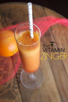 The Vitamin Zinger, an immune boosting juice drink from fierce forward