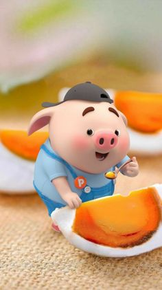 Pig Wallpaper, Cute Baby Wallpaper, Funny Phone Wallpaper, Cute Wallpaper Backgrounds, Cute Wallpapers, This Little Piggy, Little Pigs, Pigs Eating, Pig Illustration