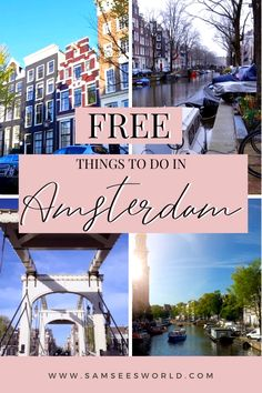 As a resident of Amsterdam I have searched long and far for all the top free things to do in Amsterdam and today I want to share them with you! Amsterdam is a city full of things to do, whether it be cultural activities, historic activities, sightseeing, or anything else. The problem is many of the top Amsterdam attractions cost money and after a few attractions, the costs start to add up. Amsterdam Attractions, Amsterdam Itinerary, Amsterdam City Guide, Amsterdam Things To Do In, Visit Amsterdam, Amsterdam Travel, European Road Trip, European Travel, Dam Square
