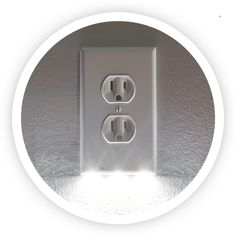 SnapPower.com | Brighten your home with our easy-to-install SnapPower Guidelight | Our easy-to-install, sleek, and energy-efficient design safely transforms your outlet coverplate into a convenient night light. - UPGRADE YOUR OUTLETS TODAY - It requires no wires or batteries and leaves all outlets free for use! - Our LED lights cost less than 10¢ per year and last 25+ years