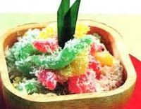 Bahan :RESEP MEMBUAT KUE CENIL 400 gram tepung kanji, larutkan dg 60 ml air 215 ml air 1 sdt garam pewarna makanan 2000 ml ai...