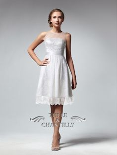 Chic Illusion Neckline  Lace Overlay Bridesmaid Dress With Satin Belt