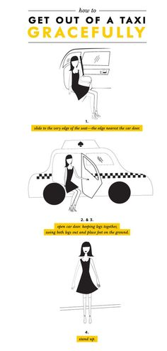 How to exit a car
